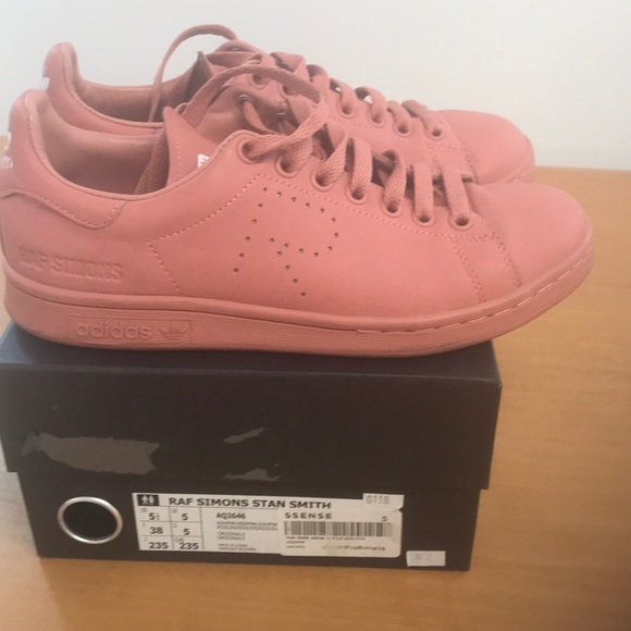 best sneakers 33329 6a475 Raf Simone Stan Smith Ash Pink size 5 1/2 M, 38 F